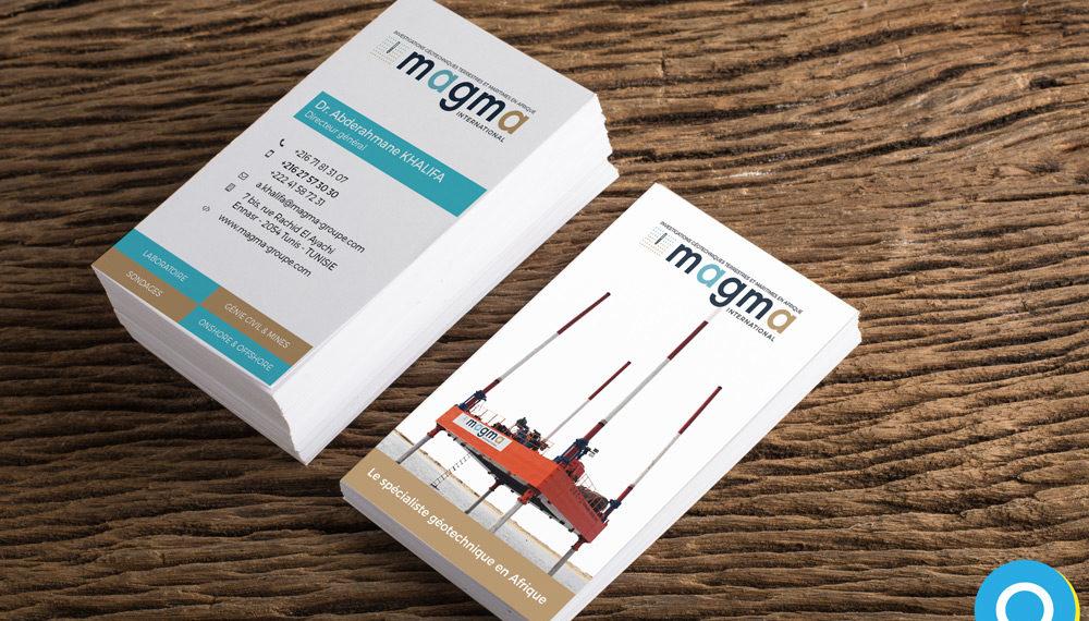 Cartes de visite - Magma par Annelyse & Quatrix